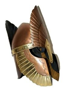 Antique Knight Crusader W//Shield Lord of The Rings Helmet Costume Reenactment