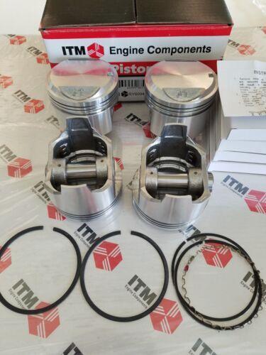 Toyota Corolla 3TC 1800 .040 oversize 4-Pistons Set with Piston Rings 80-82
