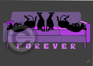 Greyhound-Whippet-Forever-Sofa-Box-Canvas-A4A3A2A1-Purple-Sofa-Mothers-Day-Gift