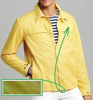 NWT $195 Lacoste Lightweight Packable Jacket in Yellow