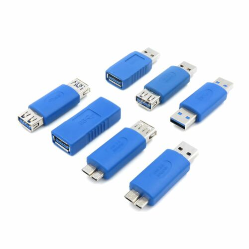 High Speed USB 3.0 Converter Joiner Extender Adapter Kit Set Male Female Micro B