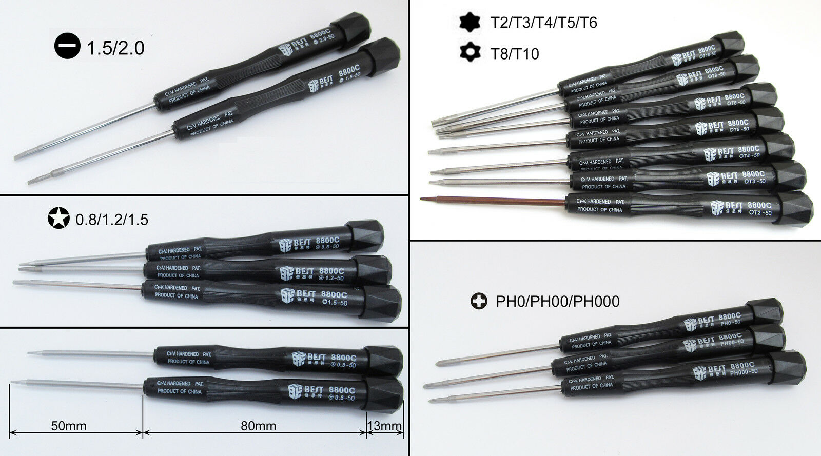 100x Best 8800C 8800C 8800C Screwdriver phone Laptop Repair Tool Torx Slotted Phillips Star 0ab952