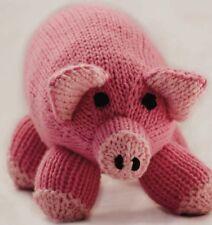 Ct21 - Knitting Pattern - Merino Pinky Pig Plush Children's Toy - Child's