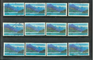 Canada-935-Waterton-Lakes-National-Park-Wholesale-Lot-of-12-Used-High-Values