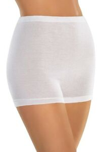 Naturana-Lot-de-5-Culotte-Shorty-Femme-en-100-Coton-2201-en-42-56-Blanc