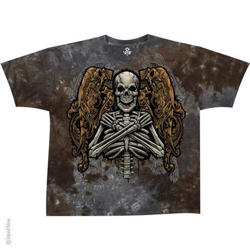 Fallen Angel Gray//Brown Skull vat dye Adult T-shirt