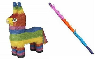 """Pinata Mexican Burro Donkey Children/'s Birthday Party Basher /& Blindfold 22/"""""""