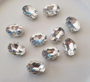 10-pieces-18-x-13mm-Clear-Oval-Shape-Rhinestone-Jewel-Gem-with-claw-Sew-on