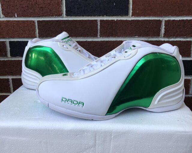 Vintage Dada Supreme White Metallic Green Sz 9 Chris Webber NBA