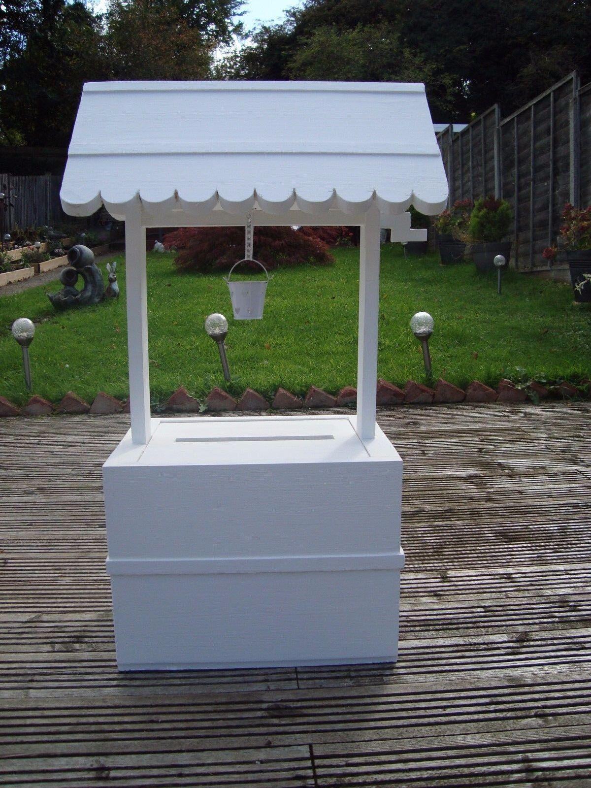 Mariage Wishing Well 80 cm plus haute, avec seau 4 vente envoi gratuit au Royaume-Uni.