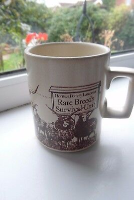 Hornsea Pottery Coffee Mug Lancaster Rare Breeds Survival Unit