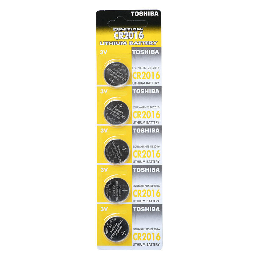 Toshiba CR2016 3V Lithium Battery 1PACK X (5PCS) =5 Single Use Batteries