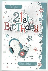 Image Is Loading 21st Birthday Card Male 3D Design