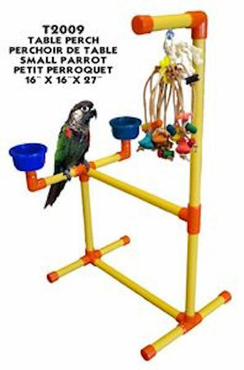 Parred Perch Pet Bird Perch Play Stand Play Gym Table Top Perch
