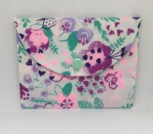 kleine Damen Hand Tasche Kosmetiktasche Schminktasche Schleife Blumen Wolken
