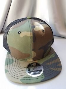 New Era 9Fifty Flat Snapback Trucker Cap Camouflage Camo Military ... fdf266c0d6c1