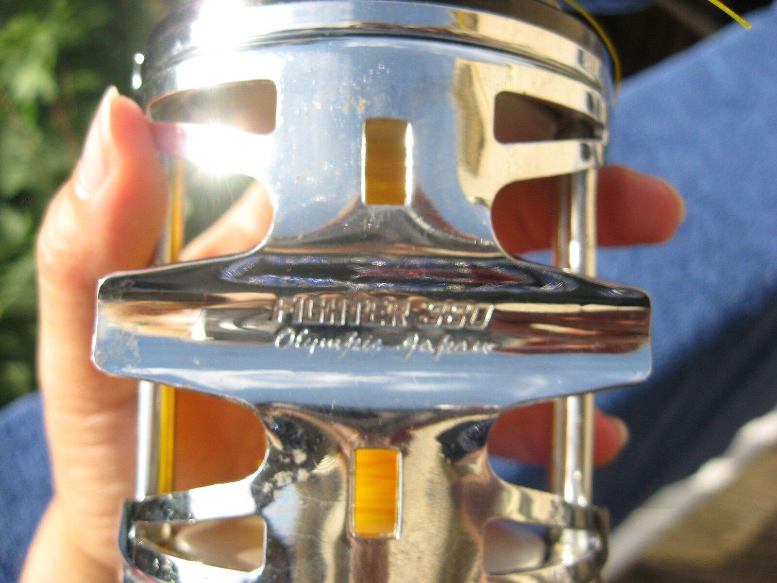 Vintage Olympic FIGHTER BIg 380 Bait Reel BIg FIGHTER game fishing. Japan 4e57a4