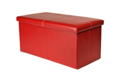 1//2-SEATER LARGE OTTOMAN FOLDING STORAGE HALLWAY BENCH TOY BOX POUFFE FOLDABLE