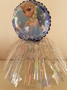 Disney Frozen Anna Elsa Table CenterPieces Birthday Foil 5 Balloons Decorations