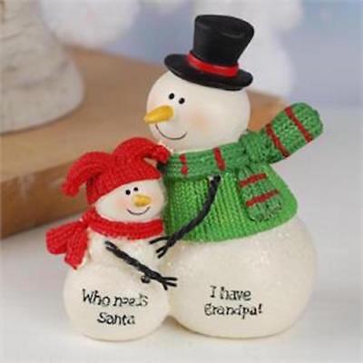 """NEW Blossom Bucket Snowman /"""" I Have Grandma /"""" Snowman SUZI SKOGLUND"""