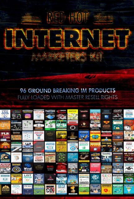 Red HOT Internet gli addetti al marketing KIT-completamente caricato con 96 diritti di rivendere i prodotti