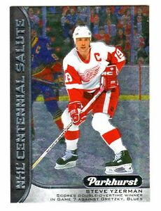 2016-17-UD-Parkhurst-CENTENNIAL-SALUTE-STEVE-YZERMAN-Red-Wings-Retail-Only-HOF