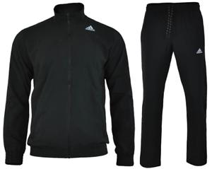 obesidad Polo Iniciativa  Adidas Chándal Para Hombre y Chicos traje de Deportes Traje Chándal Tejido  Negro Original | eBay