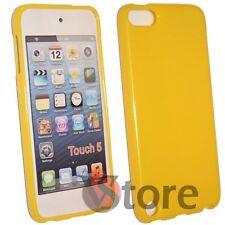 Cover Custodia Per iPod 5 Giallo Silicone Case Gel TPU + Pellicola Salva Display