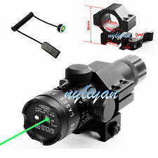 Power 532nm Green Dot Laser Sight Remote Switch&QD Mount For Rifle Hunting New