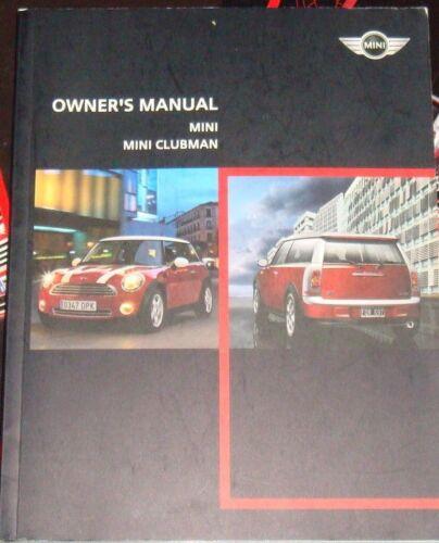 2008 BMW Mini Clubman Cooper S Owners Manual 2