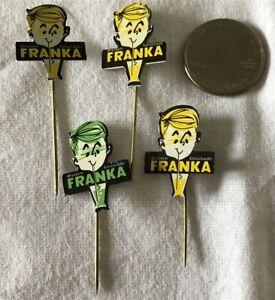 Menge-4-Franka-Limonade-Holland-Dutch-VTG-Stickpins-Pin-Pinback-37366