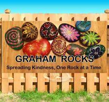 Graham Rocks Customize Advertising Vinyl Banner Flag Sign Many Sizes