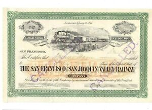 100% QualitäT San Francisco And San Joaquin Valley Railway 1897