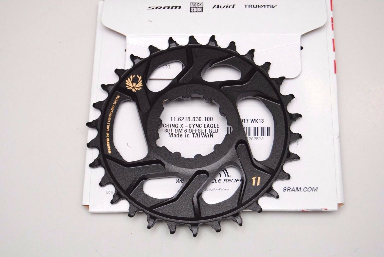 Corona TRUVATIV SRAM XX1 30T Eagle oro Denti X Direct-Mount 6 Offset 1x12Speed
