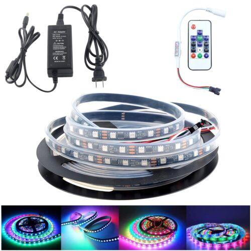5m WS2812 5050 RGB 300LEDs SMD LED Strip Lights ip67+14Keys RF Remote+12V Power