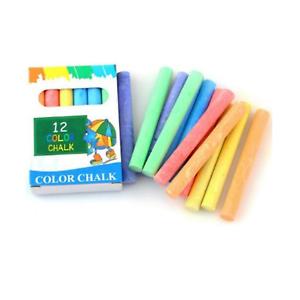 12 x Tube Chalk Sticks Tableau Noir PAVEMENT Enfants Art Craft craies UK