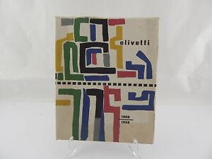 OLIVETTI-1908-1958-LIBRO-CINQUANTENARIO-DESIGN-COPERTINA-G-PINTORI-IVREA-UNESCO