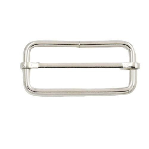 Centro de 50mm Tri-se desliza Slide Bar hebilla de diseño para ajustadores en correas de mochila