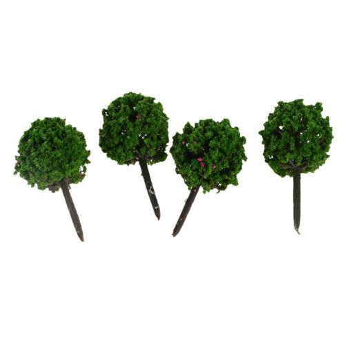 50 pieces Ball Geformt Modell Bäume Baum DIY Landschaft Landschaftsbau Grün