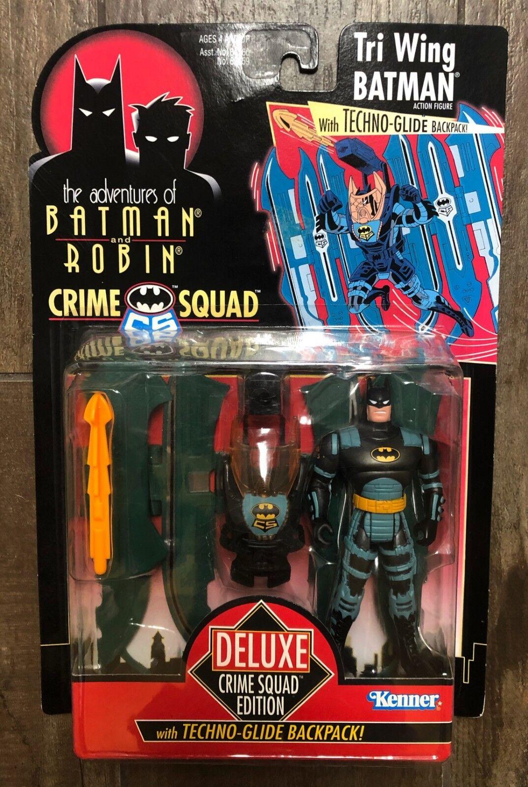 1995 The Adventures of Batman and Robin Crime Squad Tri Wing Batman Deluxe