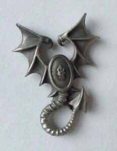 Games Workshop Pin Badge-warhammer Elfes Noirs Épuisé * Bulldog Battlegear *-afficher Le Titre D'origine Pure Blancheur