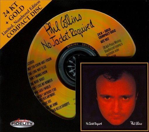 No Jacket Required, Phil Collins (CD, Feb-2011, Audio Fidelity) 24 KARAT GOLD