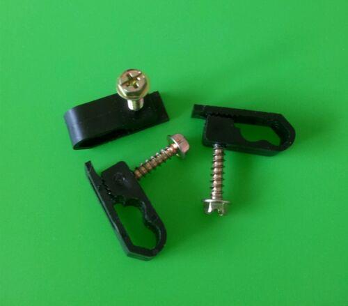 BLACK Dual Cable Mounting Clip QTY 50PCS