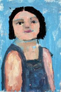 Palette Knife Portrait Art Painting Blues by Katie Jeanne Wood