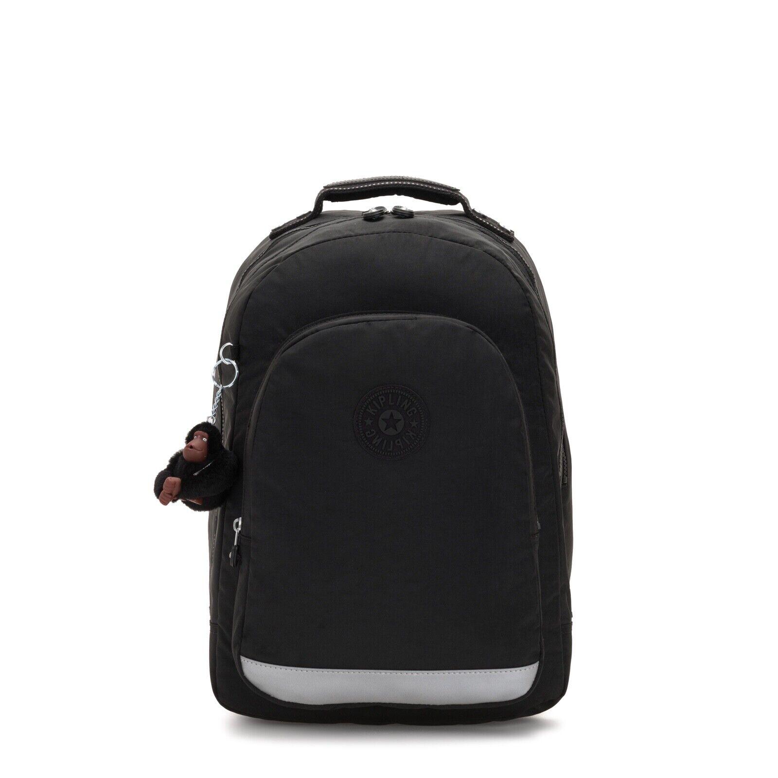 Kipling classee Stanza Gree Zaino Laptop Prossoezione Vero Nero BTS19 RRP £126