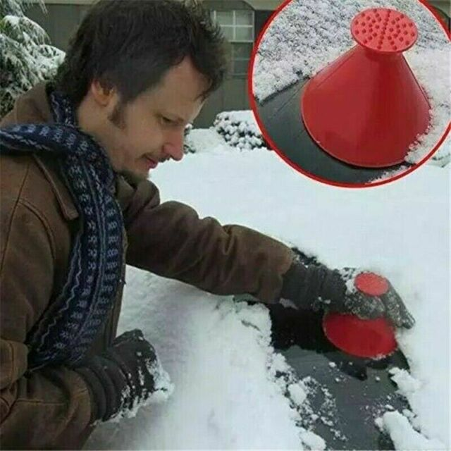 Outdoor Funnel Windshield Magic Home Snow Remover Car Tool Ice Scraper Black