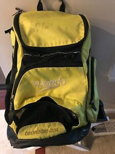 Speedo-Teamster-35L-Backpack-Swimming-Pre-Owned-Yellow