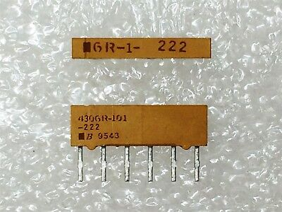 RES ARRAY 2.2K OHM 3 RES 6SIP 100 pieces