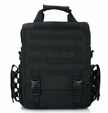 Black Tactical 14 Laptop Computer Carrying Case Backpack Shoulder Bag Molle