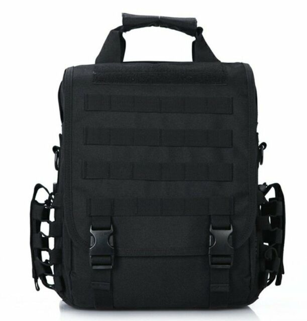 Black Tactical 14 Laptop Computer Carrying Case Backpack Shoulder Bag Molle 0ed3c7d6b227
